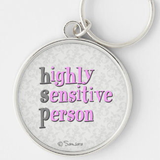 Highly Sensitive Person Silver-Colored Round Keychain