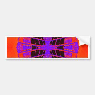 Highly Visible Bright Orange Purple Extreme Design Car Bumper Sticker