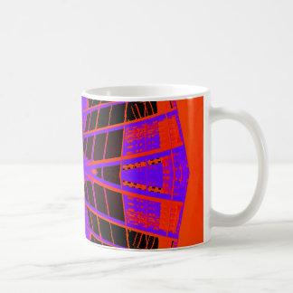Highly Visible Bright Orange Purple Extreme Design Coffee Mug