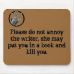 highres_6541465, Please do not annoy the writer... Mousepad