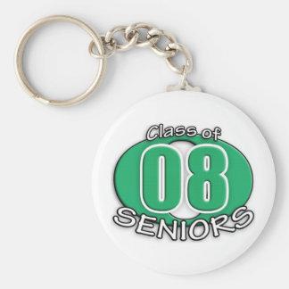Highschool 2008 Grad Year Basic Round Button Keychain
