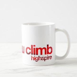 "Highspire ""skies you climb"" mugs"