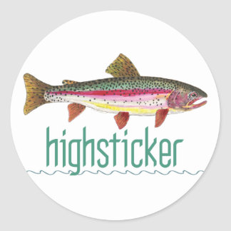 Highsticker Fly Fishing Round Stickers