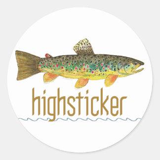 Highsticker - pesca con mosca pegatina redonda