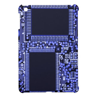 Hightech Circuit board in blue monochrome Case For The iPad Mini