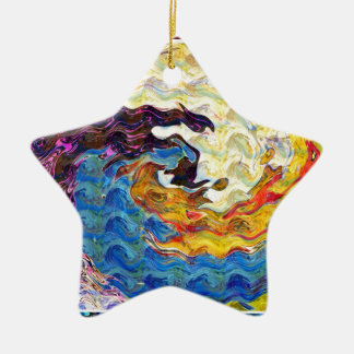 Hightide Waves Hurricane Season Cute Pretty Gifts Christmas Tree Ornament