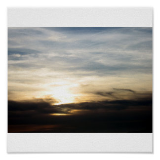 Highway 101 Clouds - Direct Sun Poster