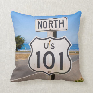 Highway 101 North Throw Pillow