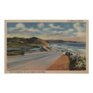 Highway 101 on the Coast of California ViewState Poster