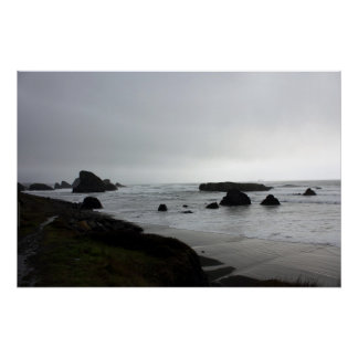 Highway 101 Rocks and Tide Poster
