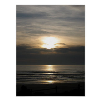 Highway 101 sunset, Gated Poster