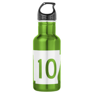 Highway 10, Arkansas, USA 18oz Water Bottle
