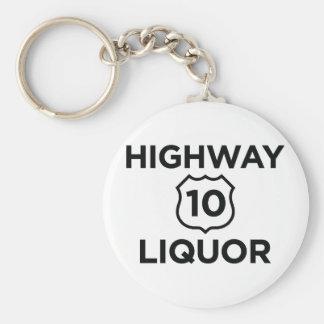 Highway 10 Liquor Keychain