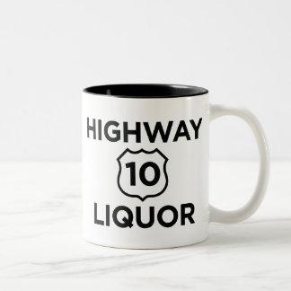 Highway 10 Liquor Two-Tone Coffee Mug