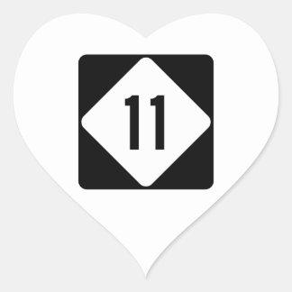 Highway 11, North Carolina, USA Heart Sticker