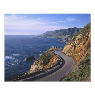 Highway 1 along the California Coast near Photo Print