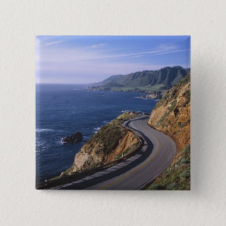 Highway 1 along the California Coast near Pinback Button