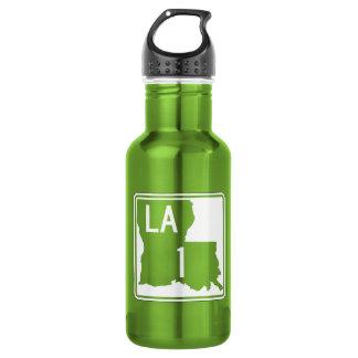 Highway 1, Louisiana, USA 18oz Water Bottle
