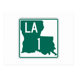Highway 1, Louisiana, USA Postcard