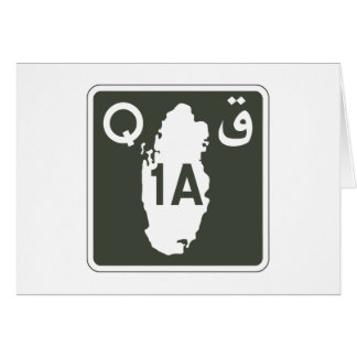 Highway 1, Sign, Qatar Card
