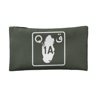 Highway 1, Sign, Qatar Cosmetic Bag