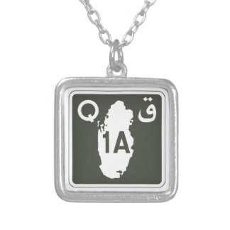 Highway 1, Sign, Qatar Custom Necklace