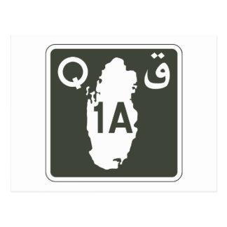 Highway 1, Sign, Qatar Postcard
