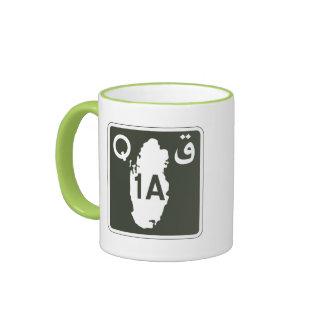 Highway 1, Sign, Qatar Ringer Mug