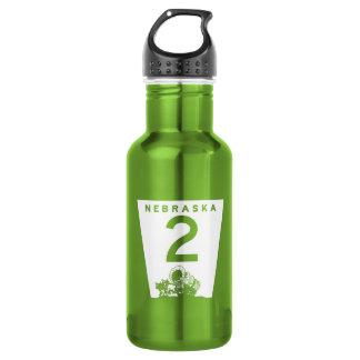 Highway 2, Nebraska, USA 18oz Water Bottle