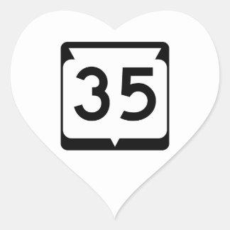 Highway 35 Wisconsin USA Sticker