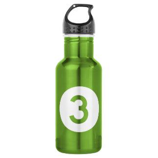 Highway 3, Iowa, USA 18oz Water Bottle