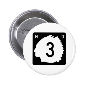 Highway 3, North Dakota, USA Pinback Buttons