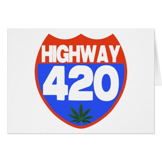 Highway 420 w/ Pot Leaf Card