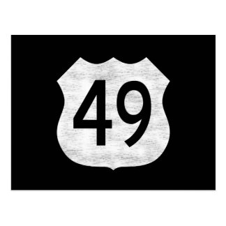 Highway 49 Route Sign Postcard