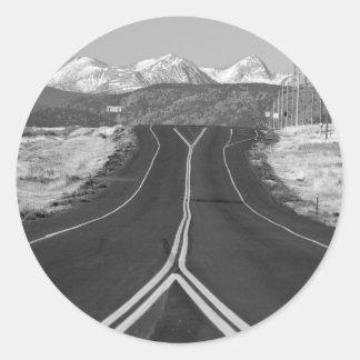 Highway 52 classic round sticker