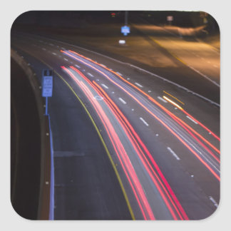 Highway 85 at night_.jpg square sticker