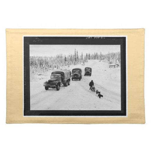 Highway Alaska-Canadiense, 1942, Placemat Manteles