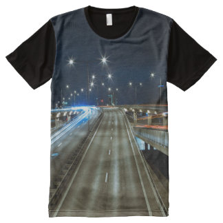 Highway at Night All-Over-Print T-Shirt