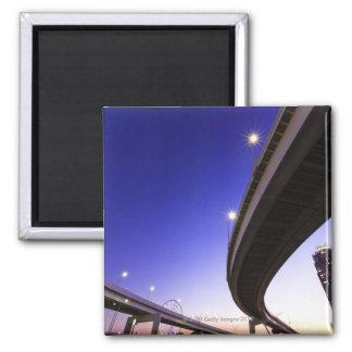 Highway at Night Fridge Magnets