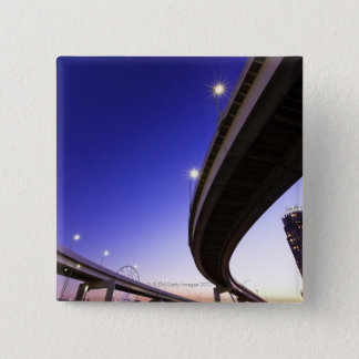 Highway at Night Pinback Button