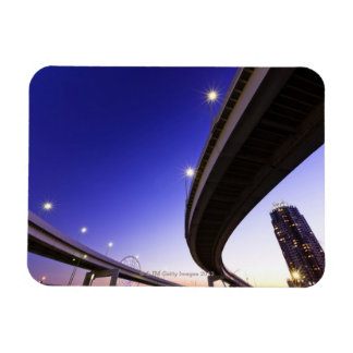Highway at Night Rectangular Magnet