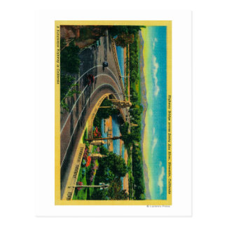 Highway Bridge across Santa Ana River Postcard