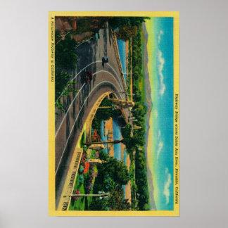 Highway Bridge across Santa Ana River Poster