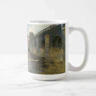 Highway Bridge at Argenteuil Monet Vintage Art Coffee Mug