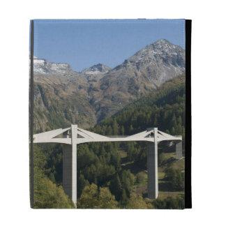 Highway bridge in the Alps iPad Folio Cases