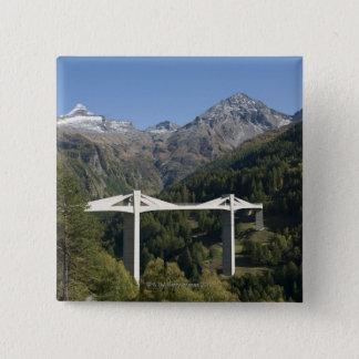 Highway bridge in the Alps Pinback Button