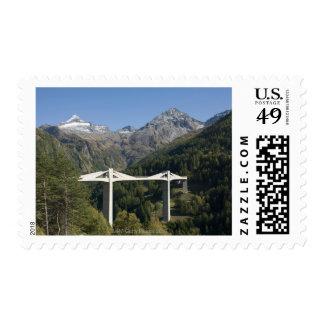 Highway bridge in the Alps Postage