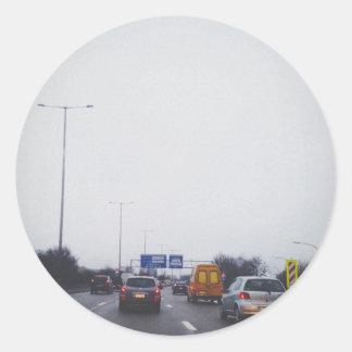 Highway Classic Round Sticker