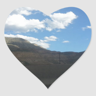 Highway Drive Heart Sticker