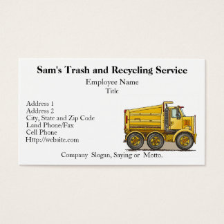 Highway Dump Truck Business Card